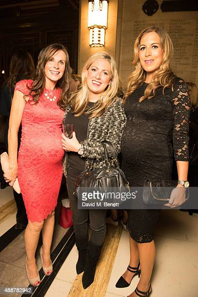 Jakki Jones and friends attend the launch of new book Art Makeup by Lan Nguyen Grealis at The Freemason's Hall on September 17 2015 in London England