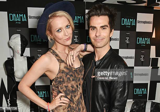 "Jakki Jones and Kelly Jones attend the launch of Stereophonics' new album ""Keep The Village Alive"" at Drama Club on September 10, 2015 in London,..."