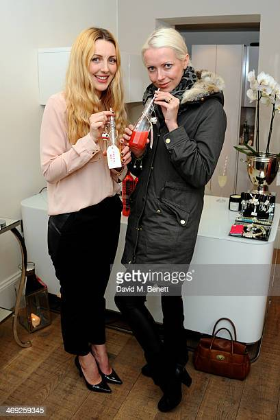 Jakki Jones and Laura Gallacher attend a Valentine's charity event at Sophie Gass Boutique Holland Park raising heart awareness for Bernard...
