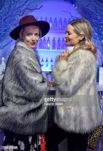 Jakki Jones and Laura Whitmore attend the Johnnie Walker Frozen Forest popup in Shoreditch to celebrate the launch of the limitededition White Walker...