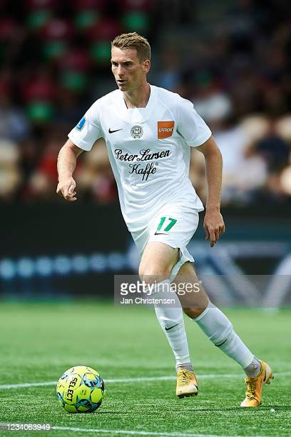 Jakob Bonde of Viborg FF in action during the Danish 3F Superliga match between FC Nordsjalland and Viborg FF at Right to Dream Park on July 18, 2021...