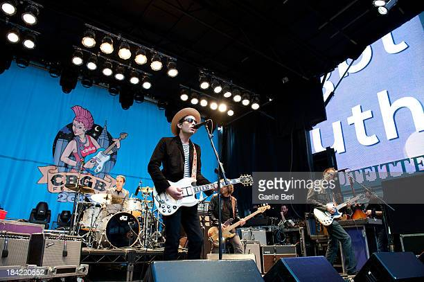 Jakob Dylan and his band The Wallflowers perform during CBGB Music Film Festival 2013 at Times Square on October 12 2013 in New York City