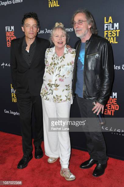 Jakob Dylan Michelle Phillips and Jackson Browne arrive at the 2018 LA Film Festival opening night premiere of Echo In The Canyon at John Anson Ford...