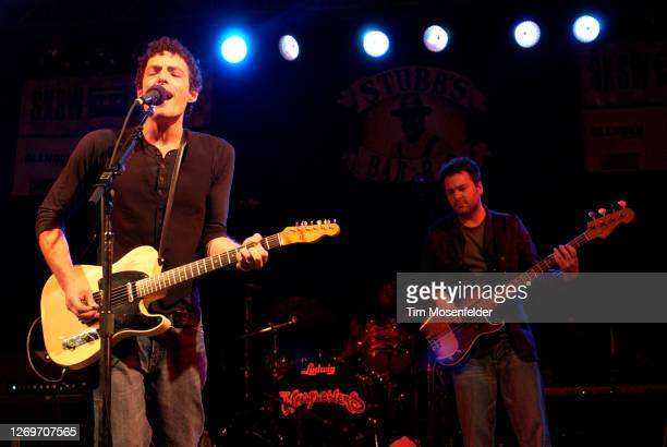 Jakob Dylan of The Wallflowers performs during SXSW 2005 at Stubbs BarBQue on March 19 2005 in Austin Texas