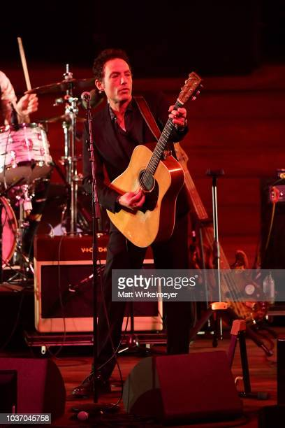Jakob Dylan performs during the 2018 LA Film Festival opening night premiere of Echo In The Canyon at John Anson Ford Amphitheatre on September 20...