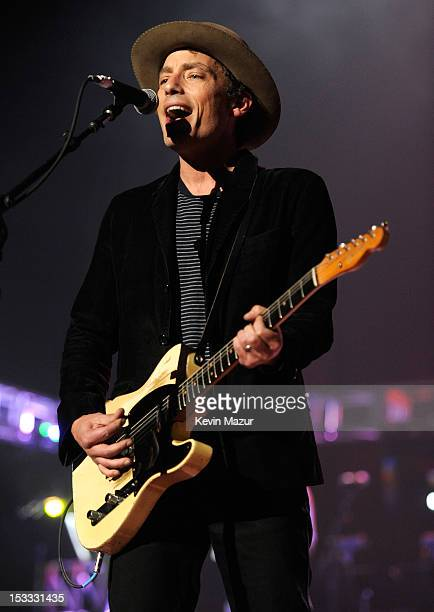 Jakob Dylan performs on stage during Love For Levon Benefit To Save The Barn at Izod Center on October 3 2012 in East Rutherford New Jersey