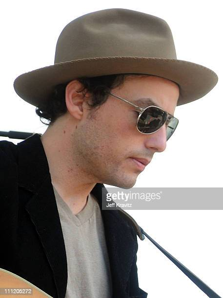 Jakob Dylan The Gold Mountain Rebels perform on the Sherwood Court stage during the Rothbury Music Festival 08 on July 4 2008 in Rothbury Michigan