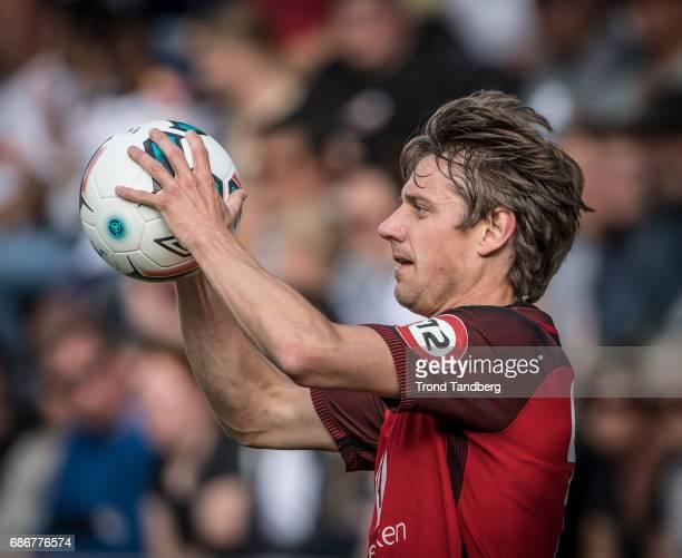 Jakob Erik Orlov of Brann during Eliteserie Match between Sogndal v Brann at Fosshaugane Campus on May 20 2017 in Sogndal Norway