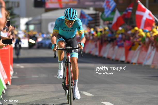 Jakob Fuglsang of Denmark and Astana Pro Team /Alpe d'Huez / Fans / Public / during the 105th Tour de France 2018, Stage 12 a 175,5km stage from...