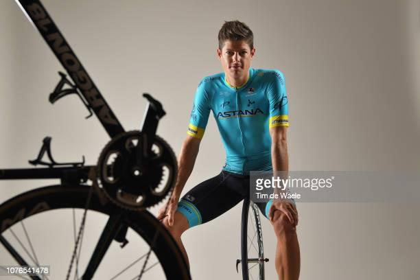 Jakob Fuglsang of Denmark and Astana Pro Team / Corima Wheel / Argon 18 Bike / Silhouette / Detail view / on December 17 2018 in Altea Spain