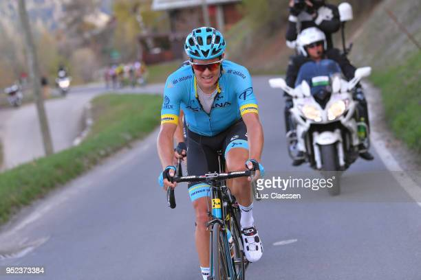 Jakob Fuglsang of Denmark and Astana Pro Team / during the 72nd Tour de Romandie 2018 Stage 4 a 1492km stage from Sion to Sion on April 28 2018 in...