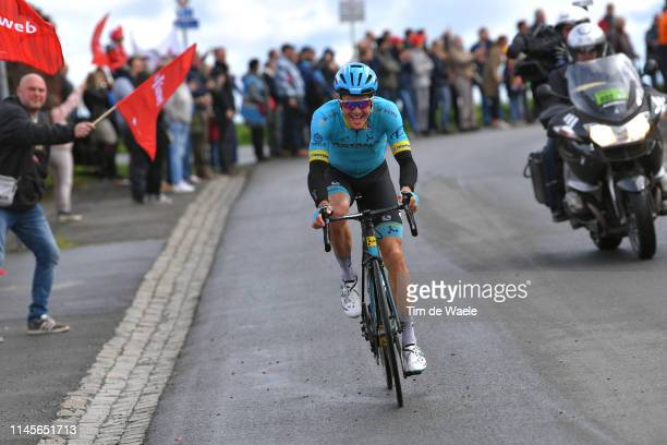 Jakob Fuglsang of Denmark and Astana Pro Team / Fans / Public / during the 105th Liege - Bastogne - Liege 2019 a 256km race from Liege to Liege /...