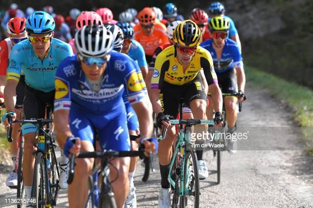 Jakob Fuglsang of Denmark and Astana Pro Team / Primoz Roglic of Slovenia and Team Jumbo - Visma / during the 54th Tirreno-Adriatico 2019, Stage 4 a...