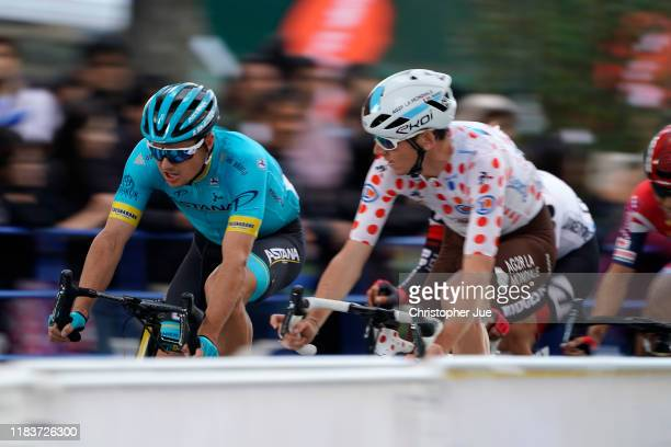 Jakob Fuglsang of Denmark and Astana Pro Team / Romain Bardet of France and Team AG2R La Mondiale Polka Dot Mountain Jersey / during the 7th Tour de...