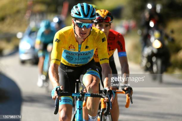 Jakob Fuglsang of Denmark and Astana Pro Team Yellow Leader Jersey / during the 66th Vuelta a Andalucía - Ruta del Sol 2020, Stage 4 a 125km stage...