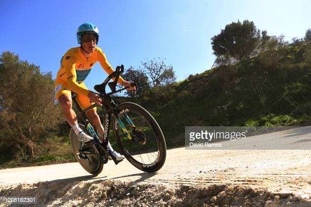 Jakob Fuglsang of Denmark and Astana Pro Team Yellow Leader Jersey / during the 66th Vuelta a Andalucía - Ruta del Sol 2020, Stage 5 a 13km...