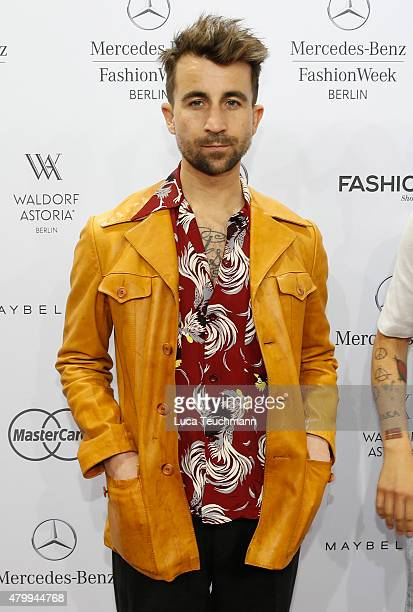 Jakob Haupt attends the Esther Perbandt show during the MercedesBenz Fashion Week Berlin Spring/Summer 2016 at Brandenburg Gate on July 8 2015 in...