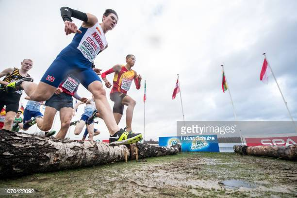 Jakob Ingebrigtsen of Norway competes during the U20 Men's race of the SPAR European Cross Country Championships on December 9 2018 in Tilburg...