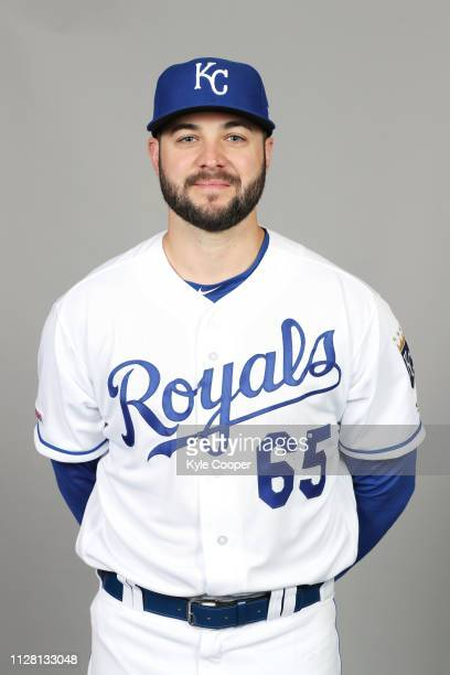 Jakob Junis of the Kansas City Royals poses during Photo Day on Thursday February 21 2019 at Surprise Stadium in Surprise Arizona