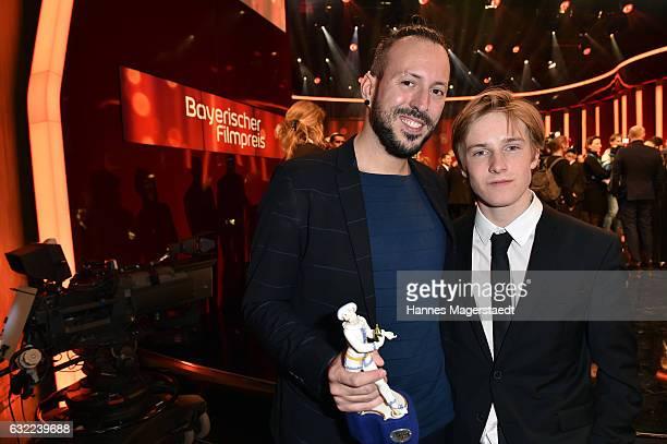 Jakob M Erwa and Louis Hofmann attend the Bayerischer Filmpreis 2017 at Prinzregententheater on January 20 2017 in Munich Germany