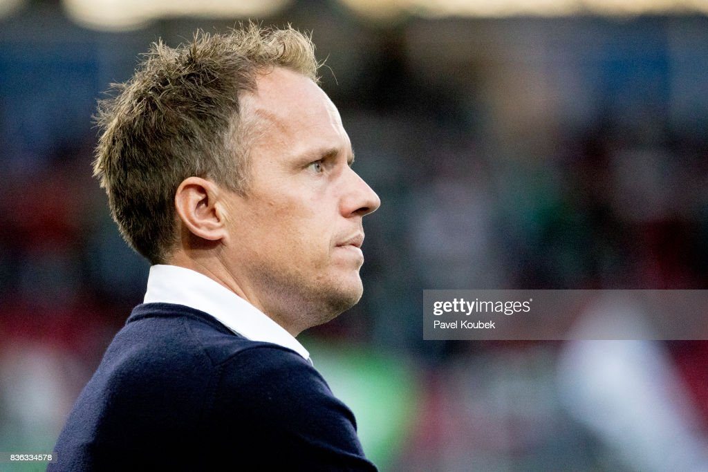 Jakob Michelsen, head coach of Hammarby IF during the Allsvenskan match between Orebro SK and Hammarby IF at Behrn Arena on August 21, 2017 in Orebro, Sweden.