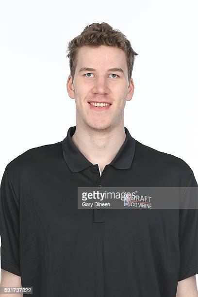 Jakob Poelti poses for a medical imaging head shot as part of the 2016 NBA Draft Combine on May 14 2016 at Northwestern Memorial Hospital in Chicago...