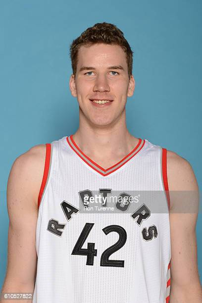 Jakob Poeltl of the Toronto Raptors poses for a head shot during the 20162017 Media Day on September 26 2016 at the BioSteel Centre in Toronto...