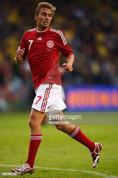 Jakob Poulsen of Denmark during the FIFA2010 World Cup Qualifying Group 1 match between Sweden and Denmark at the Rasunda Stadium on June 6, 2009 in...