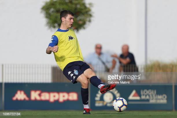 Jakob Rasmussen of Empoli FC in action during training session on September 18 2018 in Empoli Italy