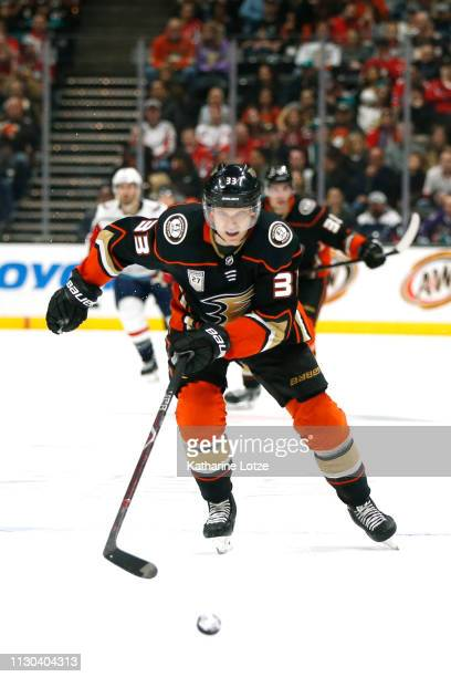 Jakob Silfverberg of the Anaheim Ducks skates down the ice during the second period against the Washington Capitals at Honda Center on February 17...