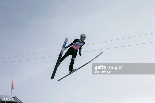 Jakob Wolny of Poland competes during the training round for the Four Hills Tournament on December 29 2017 in Oberstdorf Germany