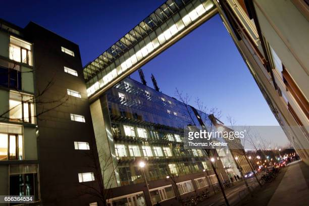 JakobKaiserHaus and Dorotheenstrasse at evening light on February 15 2017 in Berlin Germany