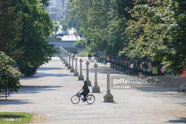 jakopic promenade, ljubljana - slovenia stock pictures, royalty-free photos & images
