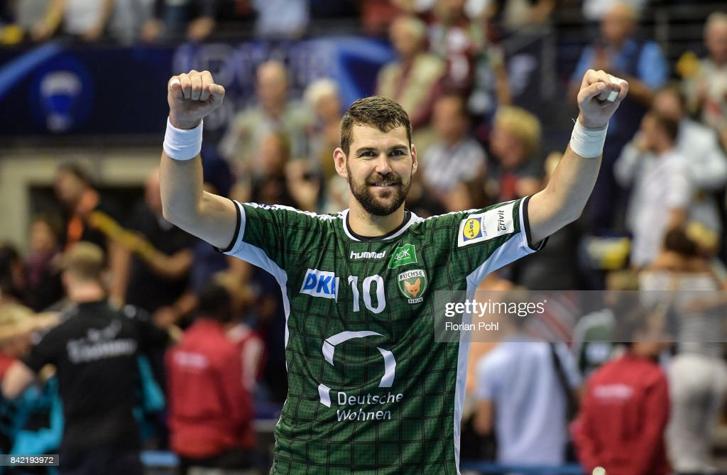 Jakov Gojun of Fuechse Berlin after the game between Fuechse Berlin and the Eulen Ludwigshafen on September 3, 2017 in Berlin, Germany.