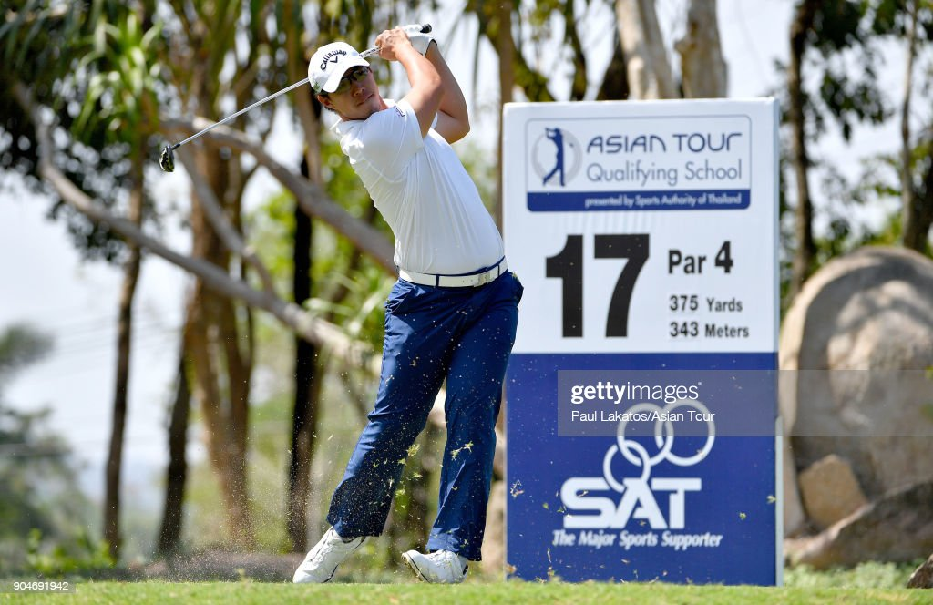 Jakraphan Premsirigorn of Thailand during round five of the 2018 Asian Tour Qualifying School Final Stage at Rayong Green Valley Country Club on January 14, 2018 in Rayong, Thailand.