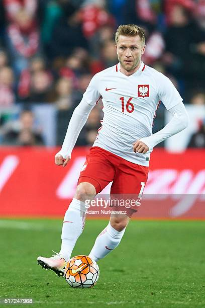 Jakub Blaszczykowski of Poland controls the ball during the international friendly soccer match between Poland and Serbia at the Inea Stadium on...