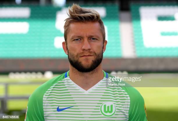Jakub Blaszczykowski of VfL Wolfsburg poses during the team presentation at on September 13 2017 in Wolfsburg Germany
