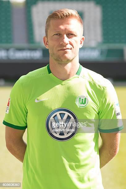 Jakub Blaszczykowski poses during the official team presentation of VfL Wolfsburg at Volkswagen Arena on September 14 2016 in Wolfsburg Germany