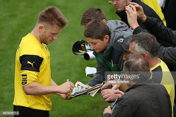 LJW Borussia Dortmund Ballspielverein Borussia BVB Signed Printed Autographs Team Photo A4 2019-2020 Season