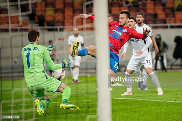 Jakub Hromada of FC Viktoria Plzen during the UEFA Europa League 20162017 Group E game between FC Astra Giurgiu and FC Viktoria Plzen at National...