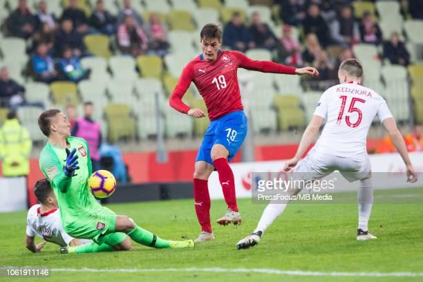 Jakub Jankto of Czech Republic scores a goal during International Friendly match between Poland and Czech Republic on November 15 2018 in Gdansk...
