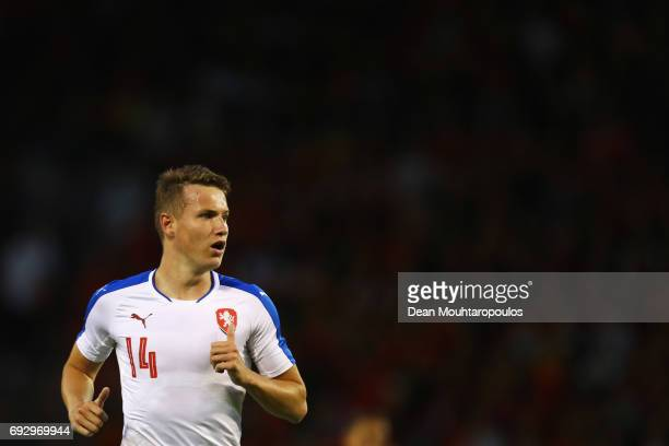 Jakub Jankto of the Czech Republic in action during the International Friendly match between Belgium and Czech Republic at Stade Roi Baudouis on June...