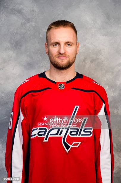 Jakub Jerabek of the Washington Capitals poses for his official headshot for the 20172018 season before a game against the Buffalo Sabres at Capital...