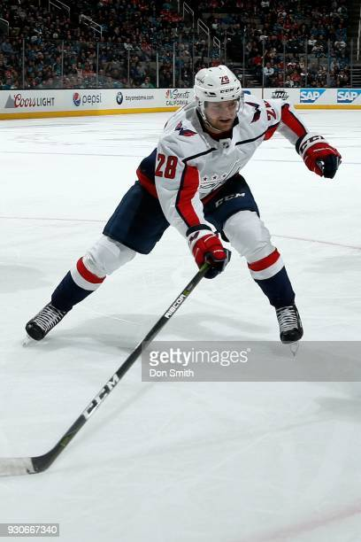 Jakub Jerabek of the Washington Capitols skates during a NHL game against the San Jose Sharks at SAP Center on March 10 2018 in San Jose California