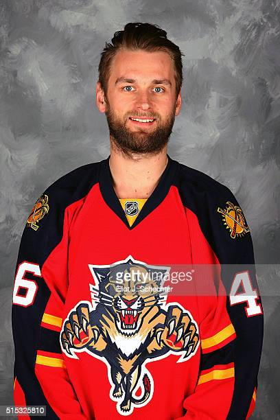 Jakub Kindl of the Florida Panthers poses for his official headshot for the 20152016 season on March 7 2016 at the BBT Center on March 7 2016 in...