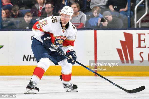 Jakub Kindl of the Florida Panthers skates against the Columbus Blue Jackets on March 16 2017 at Nationwide Arena in Columbus Ohio
