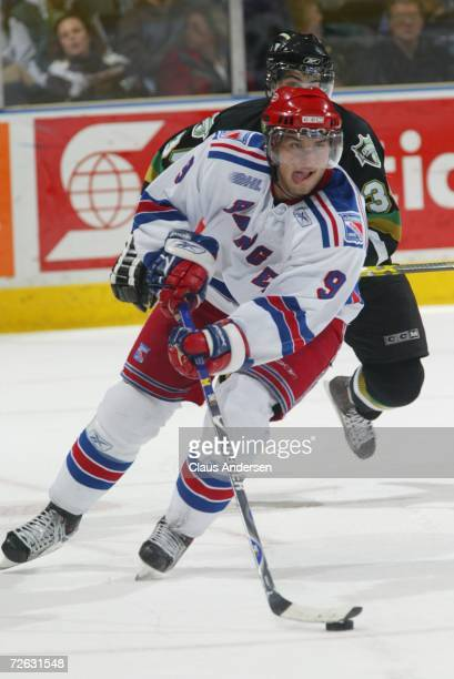 Jakub Kindl of the Kitchener Rangers skates against the London Knights at the John Labatt Centre on November 16 2006 in London Ontario Canada