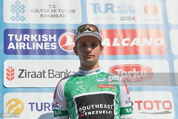 Jakub Mareczko from Southeast-Venezuela team wins the last stage, of the Tour of Turkey 2016. Jose Goncalves, a rider from Caja Rural Seguros RGA,...