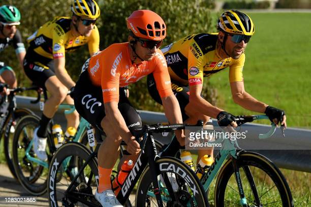 Jakub Mareczko of Italy and CCC Team / Paul Martens of Germany and Team Jumbo - Visma / during the 75th Tour of Spain 2020, Stage 10 a 185km stage...