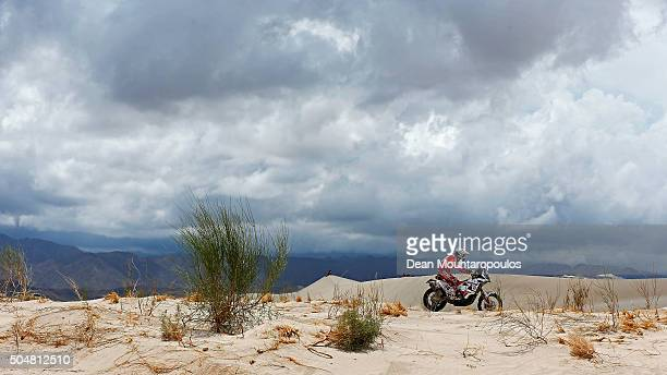 Jakub Piatek of Poland riding on and for KTM 450 RALLY REPLICA ORLEN TEAM competes on day 11 stage ten between Belen and La Rioja during the 2016...